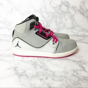 Nike Air Jordan's Girls Black & Pink Sneakers
